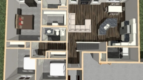 The Cypress First Floor Dollhouse Rendering 12-6-18