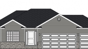 The Easton Front Elevation Drawing 7-18-18