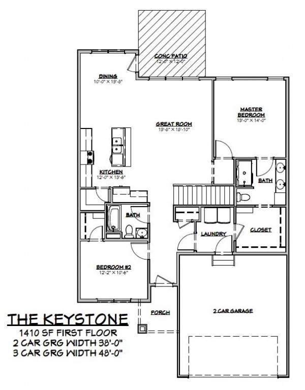 The Keystone Floor Plan Prairie Home Builders Lincoln Ne